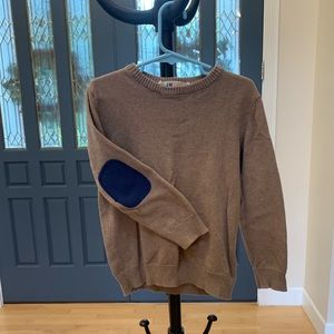 Boys' elbow patch brown sweater H&M size 4y-6y